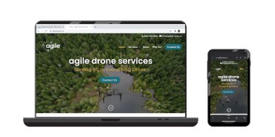 Agile Drones website on devices